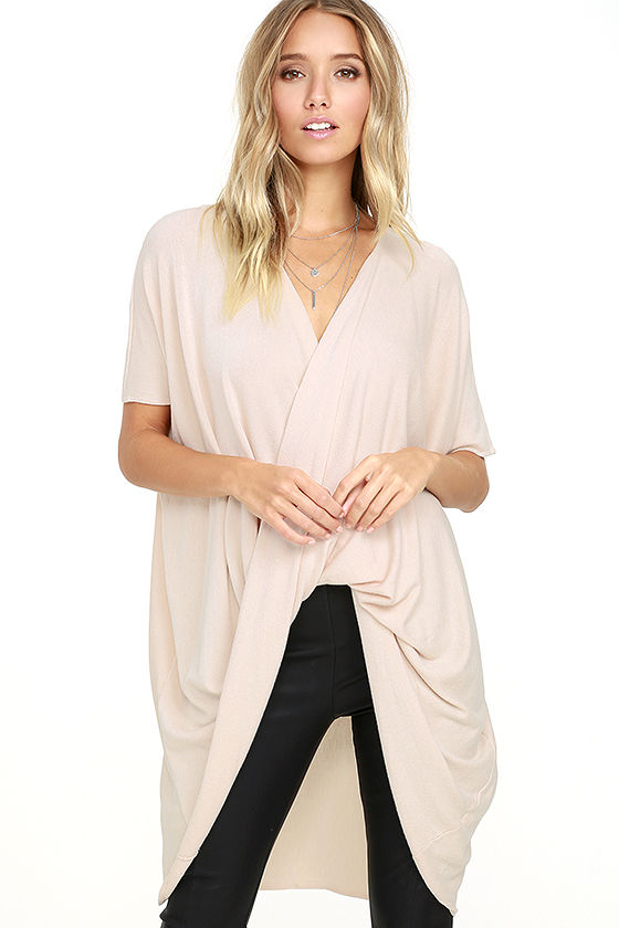 Consideration Light Blush Wrap Sweater