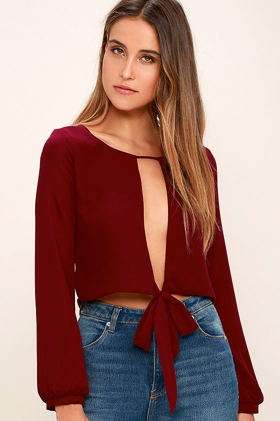 Hanging By A Moment Long Sleeve Crop Top