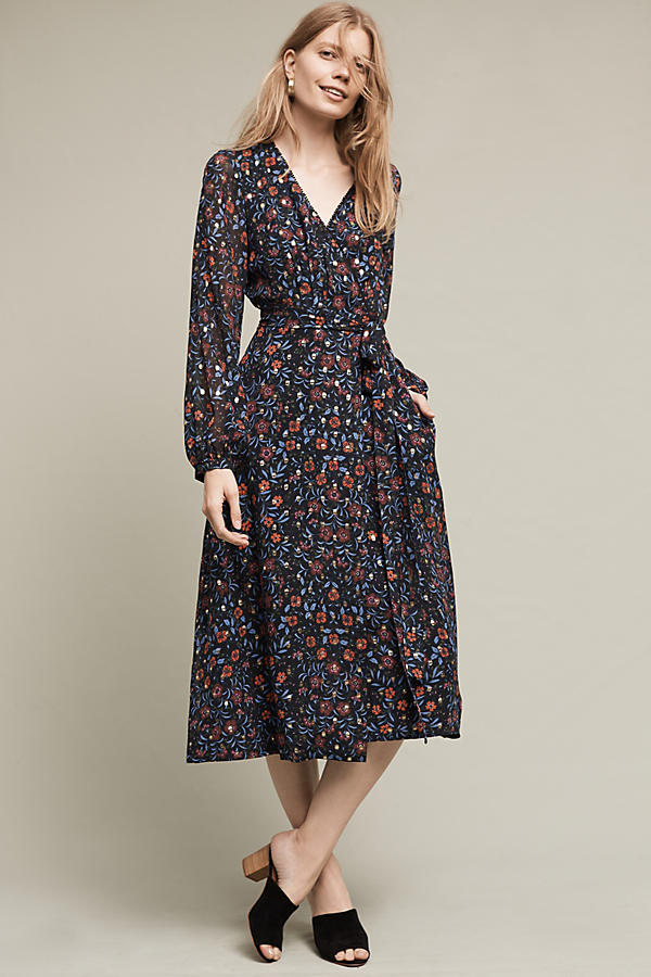 Rosebush Midi Wrap Dress